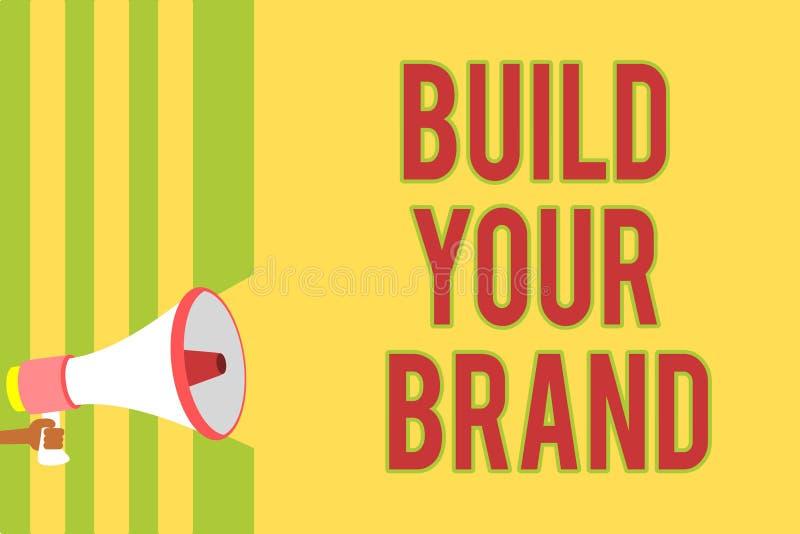 Estructura de la escritura del texto de la escritura su marca El significado del concepto hace un múltiplo comercial del anuncio  libre illustration