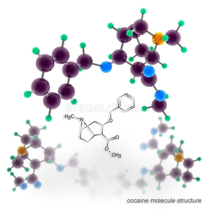 Estructura de la molécula de la cocaína ilustración del vector