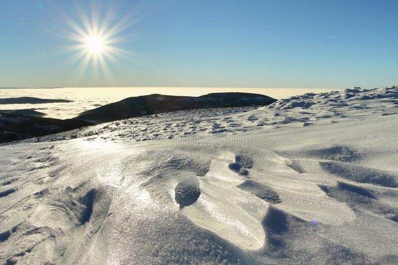Estructura de la nieve fotos de archivo libres de regalías