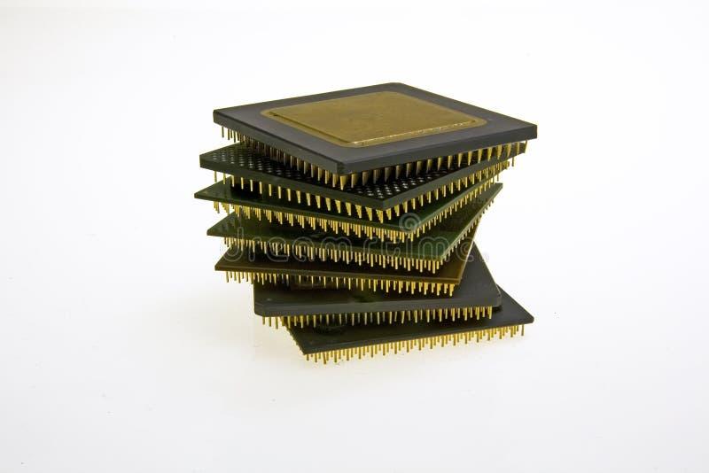 estructura de la torre de la CPU vieja foto de archivo libre de regalías