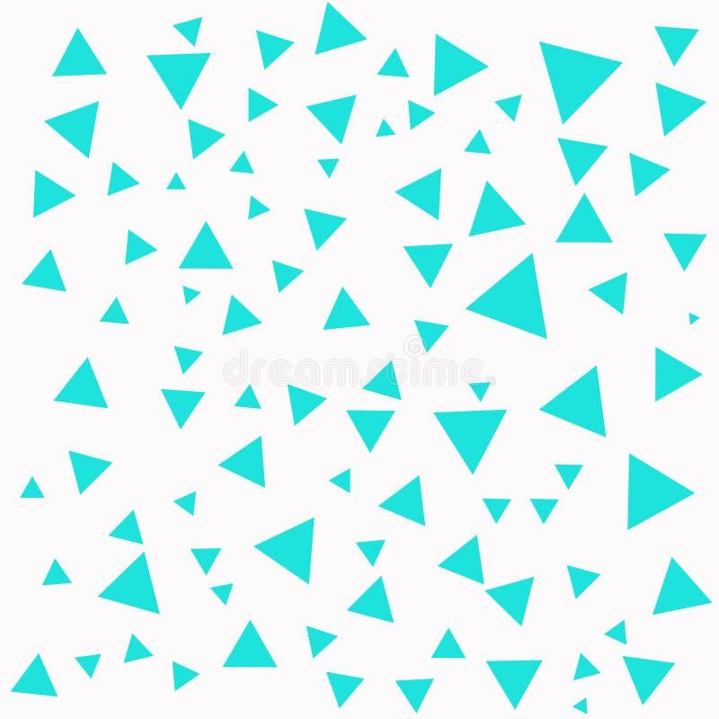 Estructura de los triángulos Triángulos en el contexto blanco La turquesa abstracta forma el fondo stock de ilustración