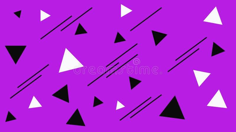 Estructura de mosaico geométrica Contexto blanco y negro abstracto de los triángulos Triángulo en el fondo púrpura libre illustration