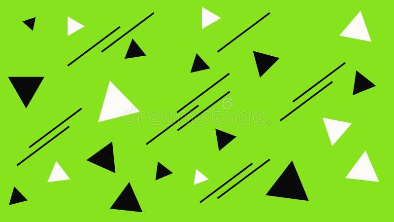 Estructura de mosaico geométrica Contexto blanco y negro abstracto de los triángulos Triángulo en el fondo verde libre illustration