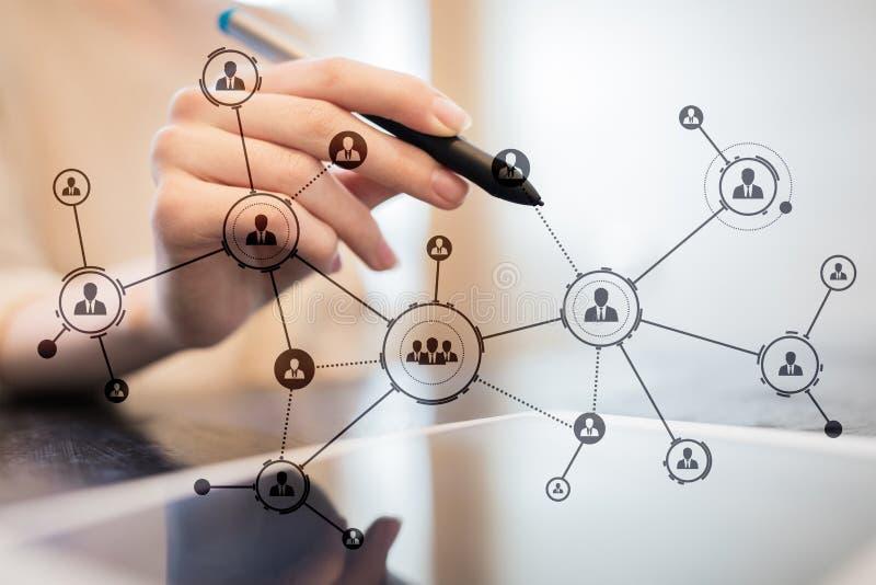Estructura de organización Red del social del ` s de la gente Concepto del negocio y de la tecnología fotos de archivo libres de regalías