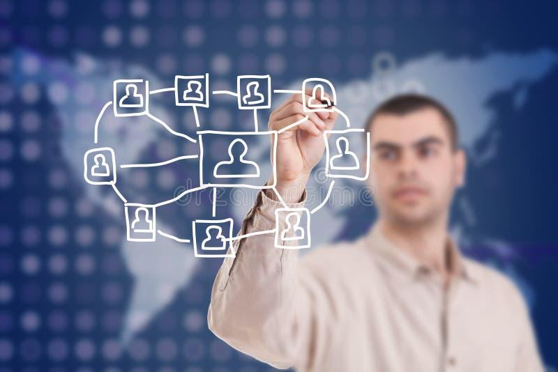 Estructura de red social imagen de archivo libre de regalías