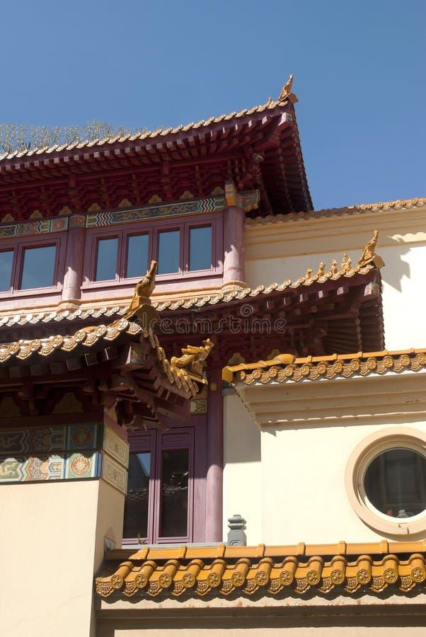Estructura de tejado china del templo fotografía de archivo libre de regalías