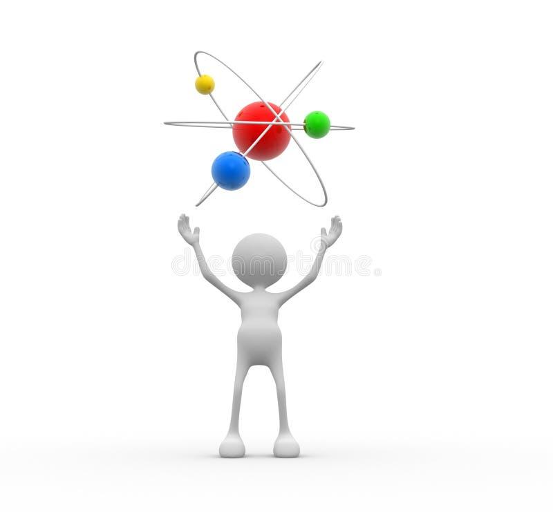 Estructura del átomo ilustración del vector