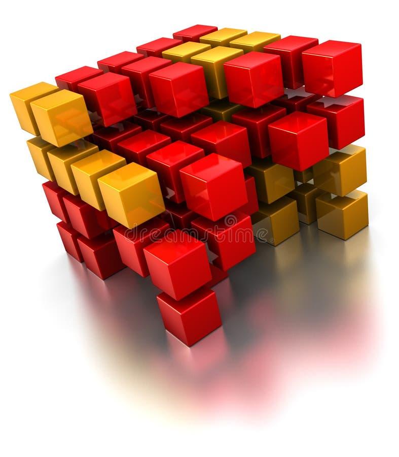 Estructura del cubo stock de ilustración