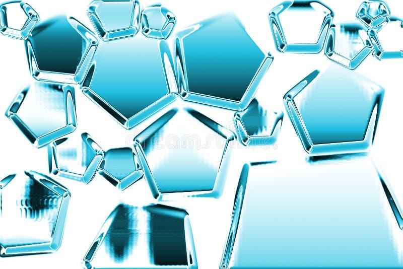 Estructura del hielo ilustración del vector