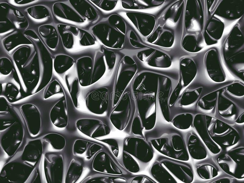 Estructura del hueso del metal stock de ilustración