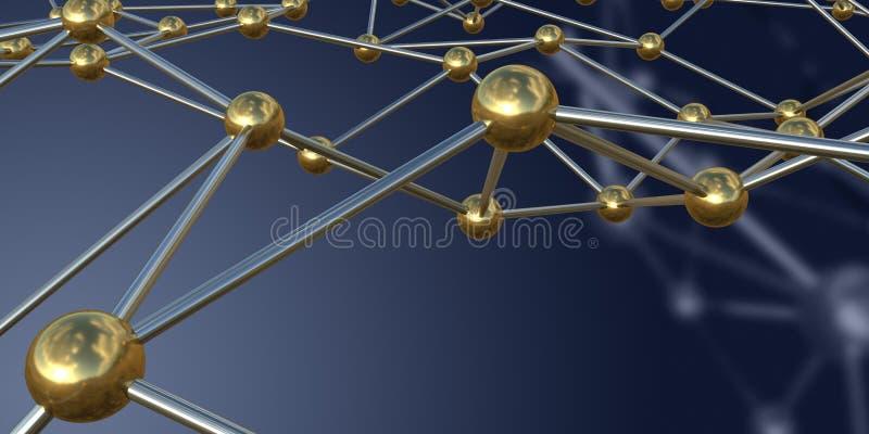 Estructura del metal en fondo oscuro representaci?n 3d ilustración del vector