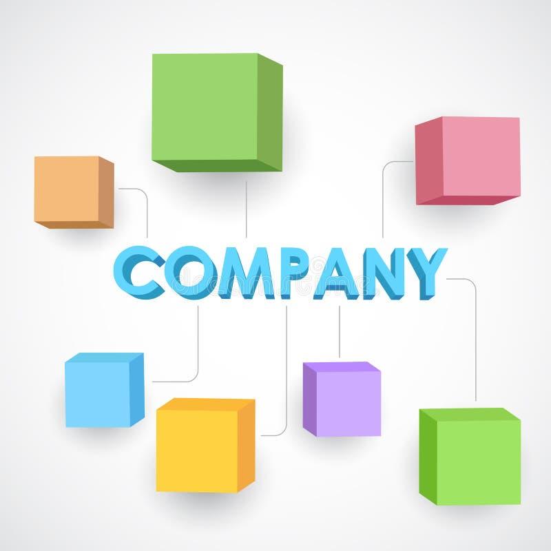 Estructura del negocio stock de ilustración