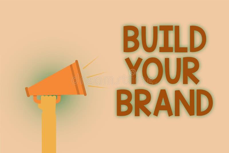 Estructura del texto de la escritura de la palabra su marca Concepto del negocio para Make un marrón comercial de la mano del anu libre illustration