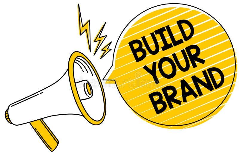Estructura del texto de la escritura su marca El significado del concepto hace que un anuncio comercial del márketing de la ident stock de ilustración