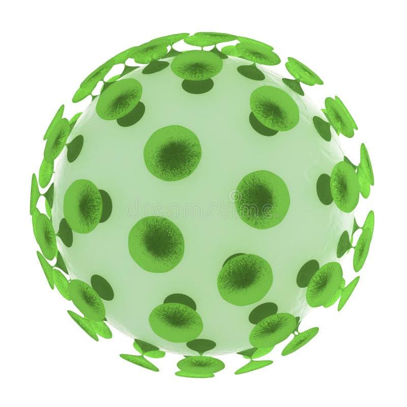 Estructura del virus de la gripe aislada en blanco ilustración del vector