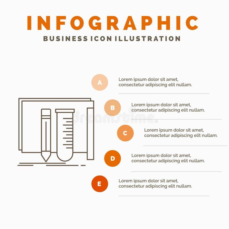 estructura, equipo, fabuloso, laboratorio, plantilla de Infographics de las herramientas para la p?gina web y presentaci?n L?nea  ilustración del vector
