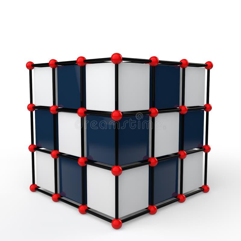 estructura futurista del cubo de la tecnología 3d libre illustration