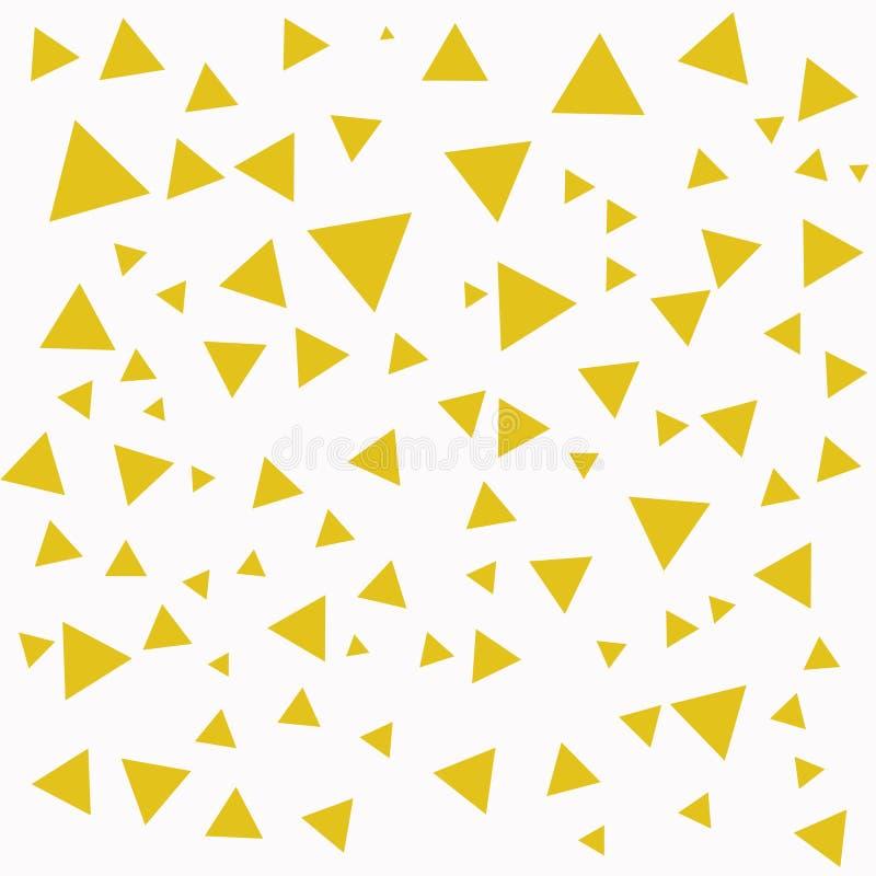 Estructura geom?trica Triángulos amarillos abstractos Fondo del tri?ngulo ilustración del vector