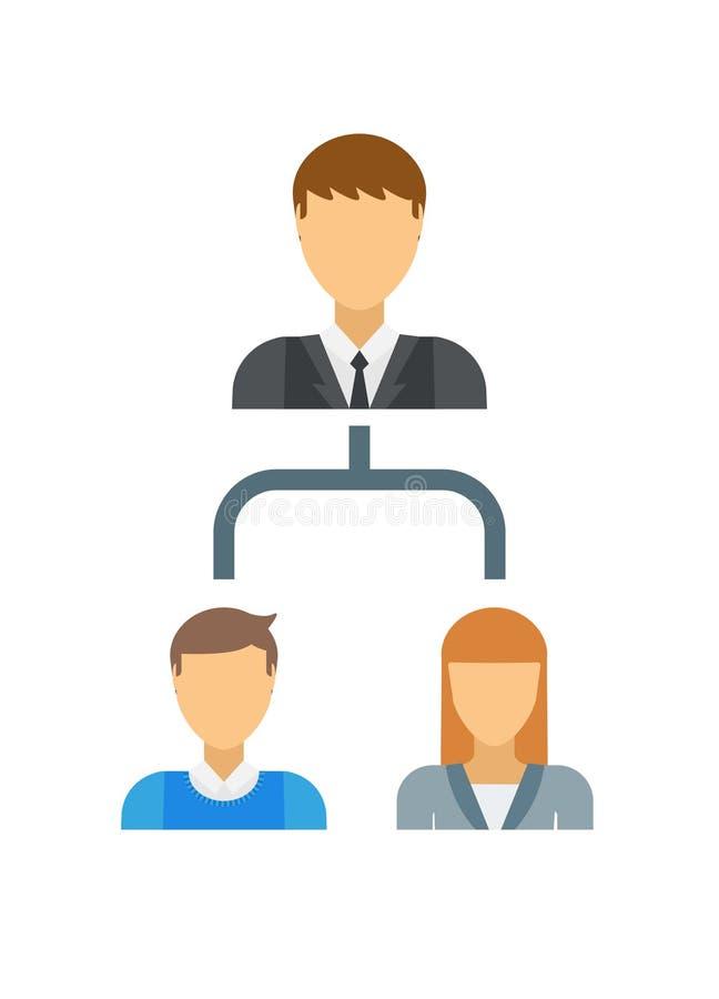 Estructura interesante del negocio en el concepto de la pirámide, organización, trabajo en equipo, carta, vector del equipo libre illustration