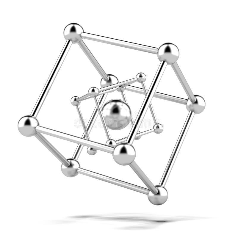 Estructura metálica de la molécula foto de archivo