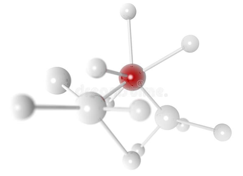 Ejemplo 3d De Una Estructura Molecular Stock De Ilustración