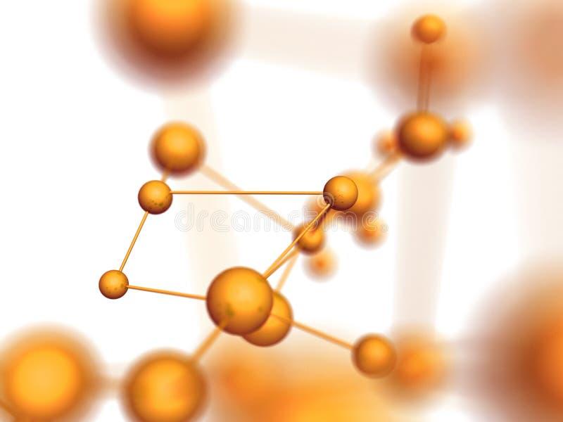 Estructura molecular stock de ilustración