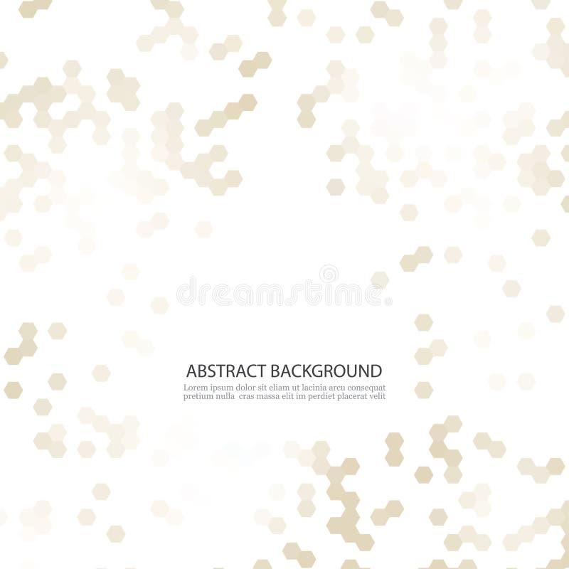 Estructura molecular y elementos químicos Fondo abstracto de las moléculas Ciencia y concepto de la tecnología digital Vector stock de ilustración