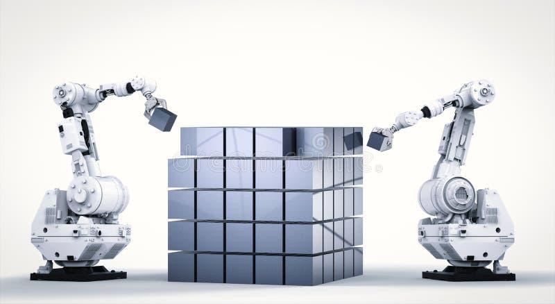 Estructura robótica del brazo cúbica libre illustration