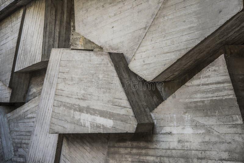 Estructuras concretas, fondo moderno del cuadrado de la arquitectura fotos de archivo