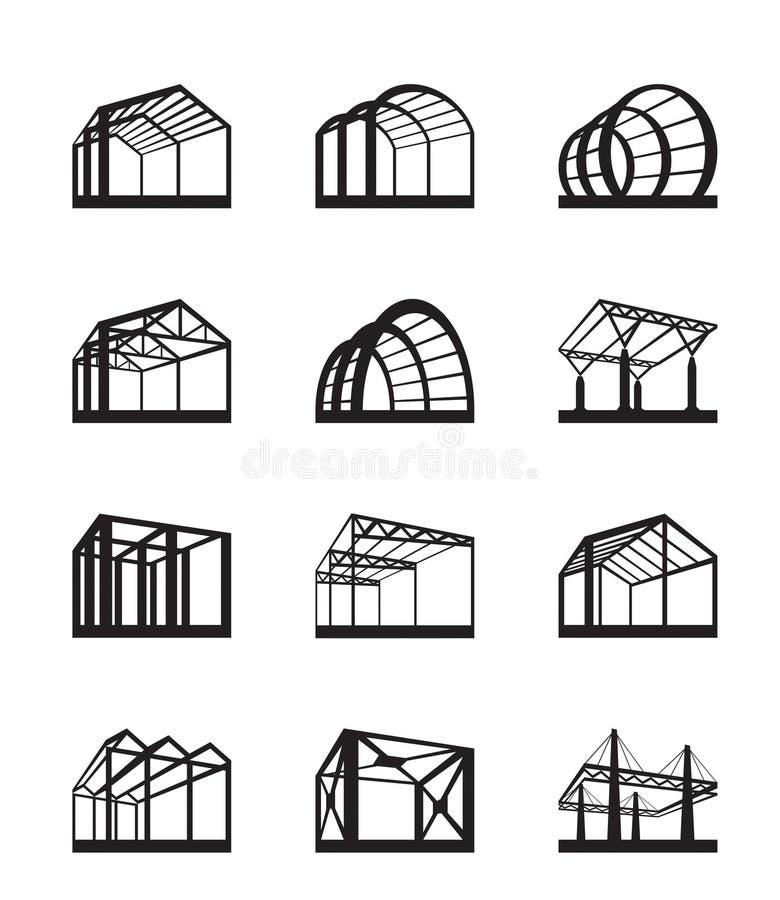 Estructuras del metal en perspectiva ilustraci n del vector ilustraci n de almacenaje poste - Estructuras de metal ...