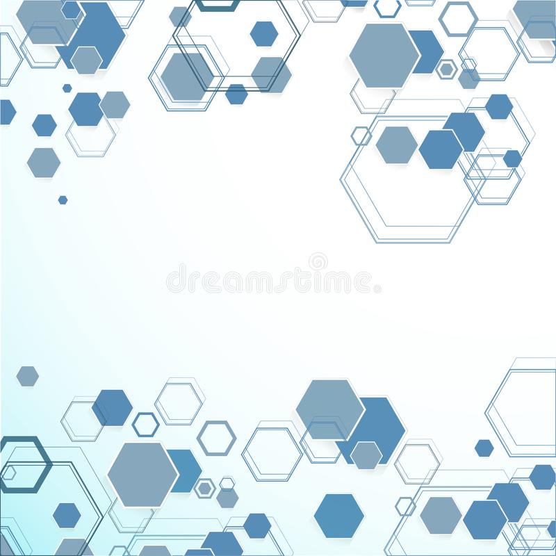 Estructuras hexagonales abstractas libre illustration