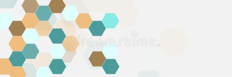 Estructuras hexagonales abstractas ilustración del vector