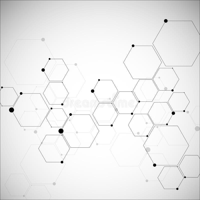 Estructuras hexagonales abstractas libre illustration