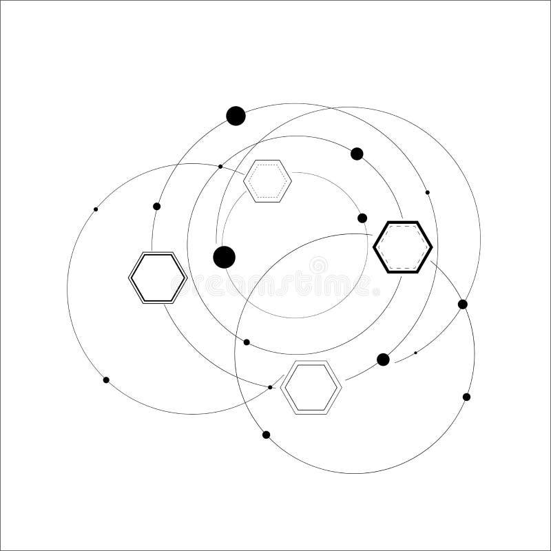 Estructuras hexagonales abstractas stock de ilustración