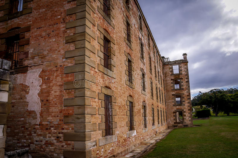 Estructuras históricas del convicto en el Port Arthur, Tasmania, Australia imagenes de archivo