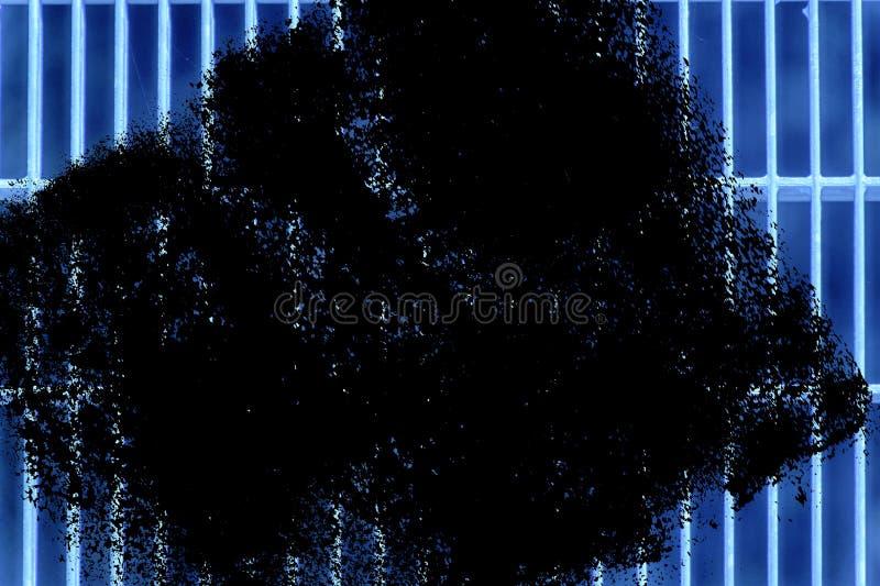 Estrutura à terra de aço ultra azul do Grunge Textura de aço inoxidável, fundo para a site ou dispositivos móveis imagens de stock