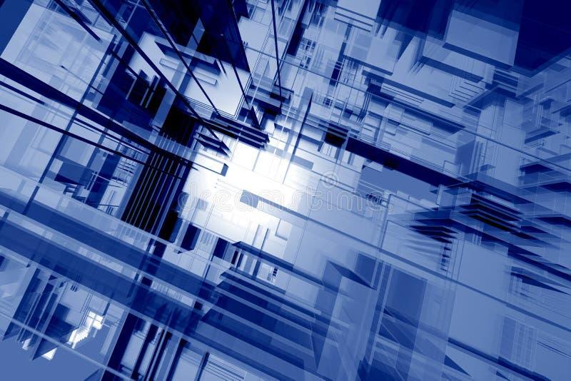Estrutura alta tecnologia ilustração stock