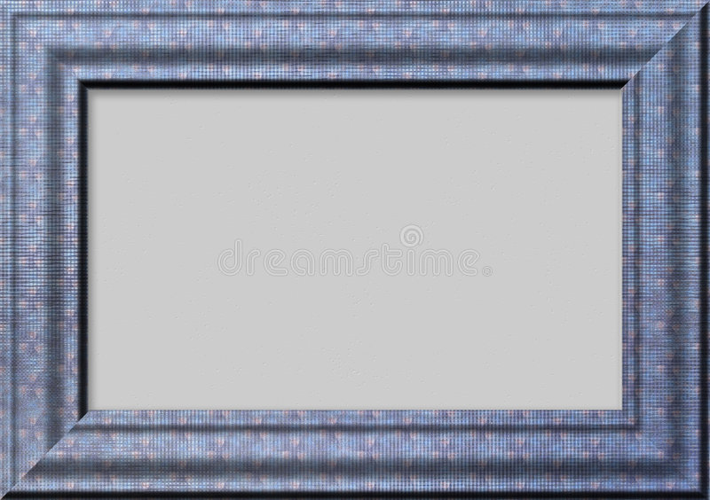 Estrutura azul para fotos ilustração stock