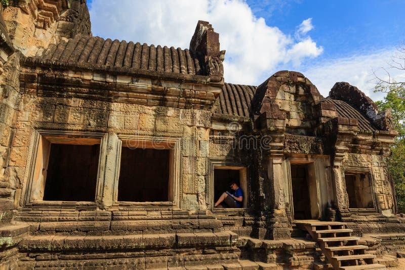 Estrutura bonita do templo de Bapuon foto de stock royalty free