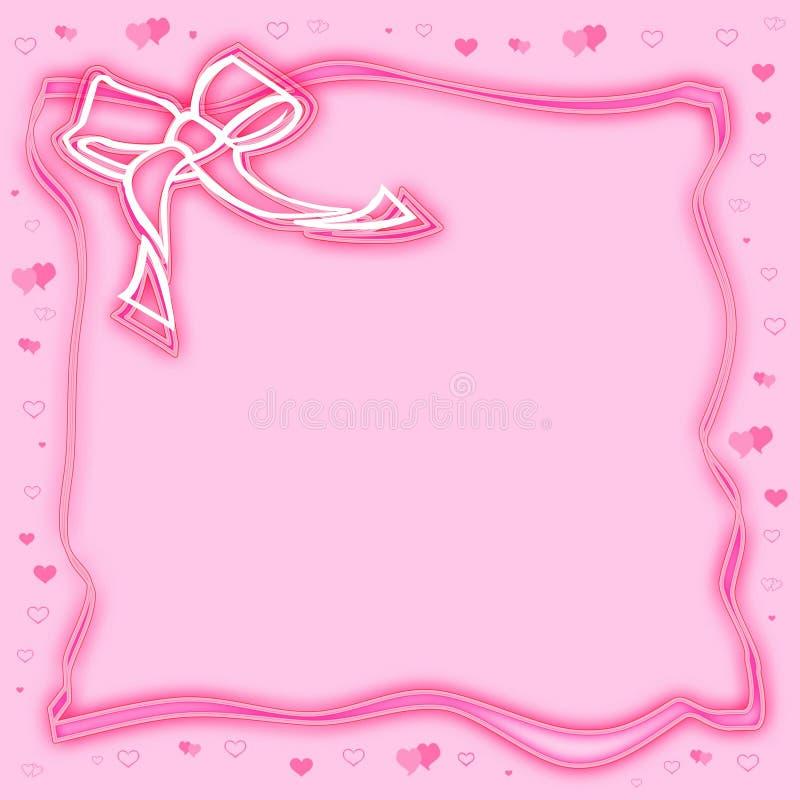 Estrutura comemorativo cor-de-rosa ao dia do Valentim ilustração stock