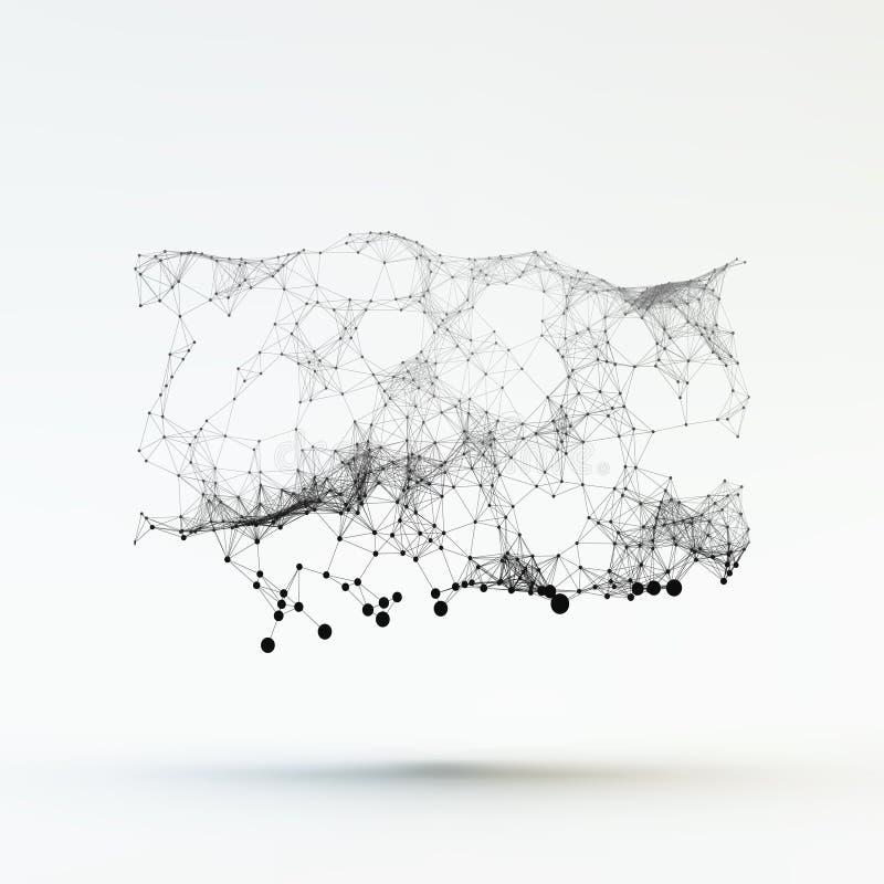 Estrutura da conexão Ilustração do vetor de Wireframe ilustração do vetor