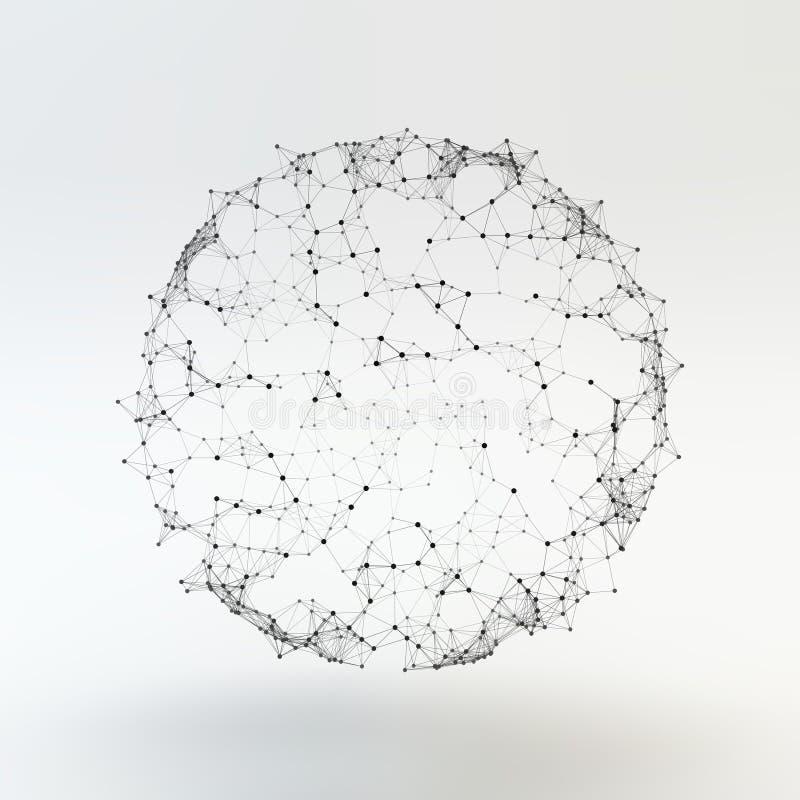 Estrutura da conexão Ilustração do vetor de Wireframe ilustração stock