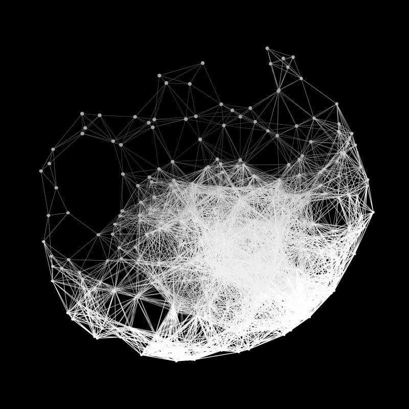 Estrutura da conexão Ilustração do vetor de Wireframe ilustração royalty free