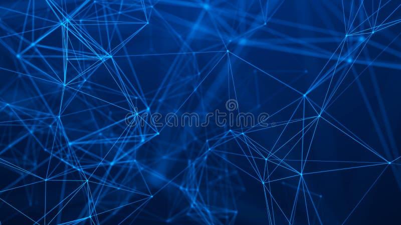 Estrutura da conex?o de rede Fundo abstrato da tecnologia Fundo futurista rendi??o 3d ilustração royalty free