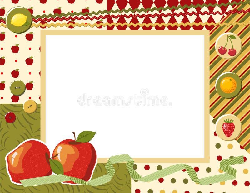 Estrutura da foto da criança ilustração stock