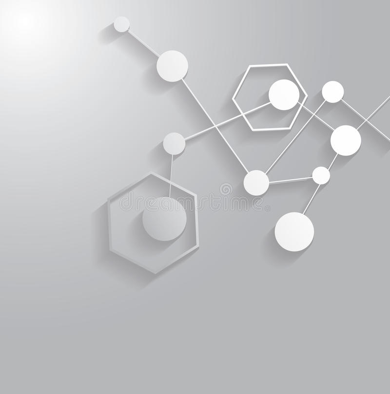 Estrutura da molécula ilustração stock