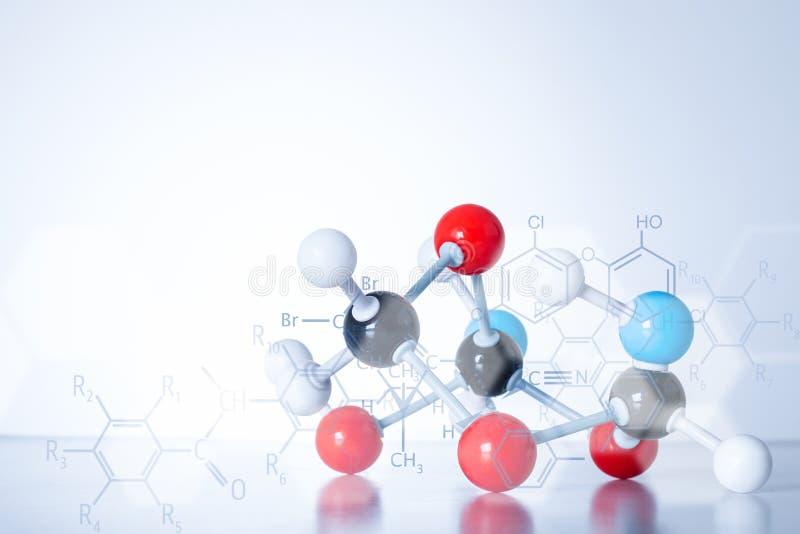 Estrutura da molécula do ADN do átomo da ciência imagens de stock royalty free