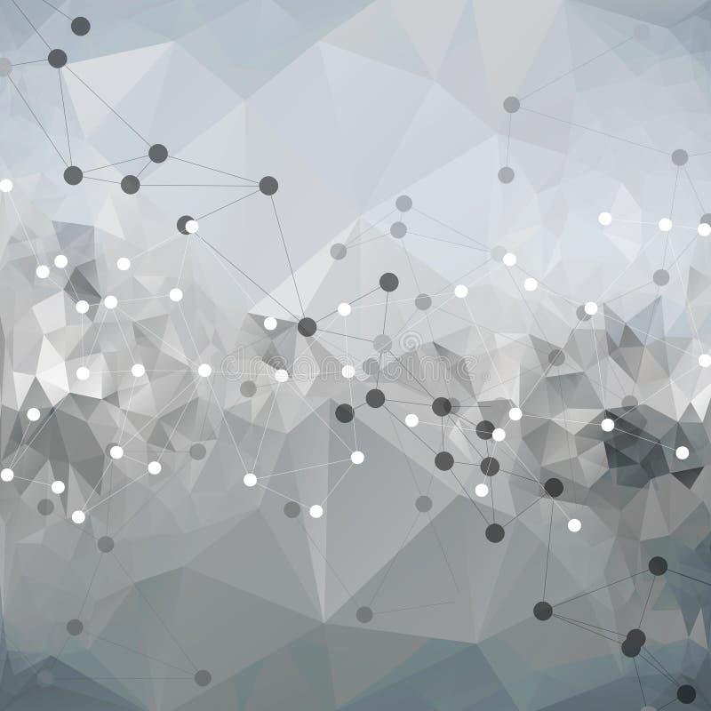 Estrutura da molécula, fundo para uma comunicação, ilustração do vetor