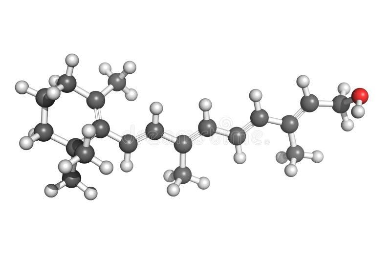 Estrutura da vitamina A ilustração stock