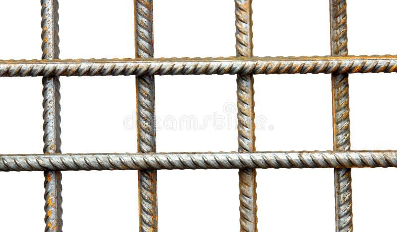 Estrutura das hastes do aço de reforço imagem de stock royalty free